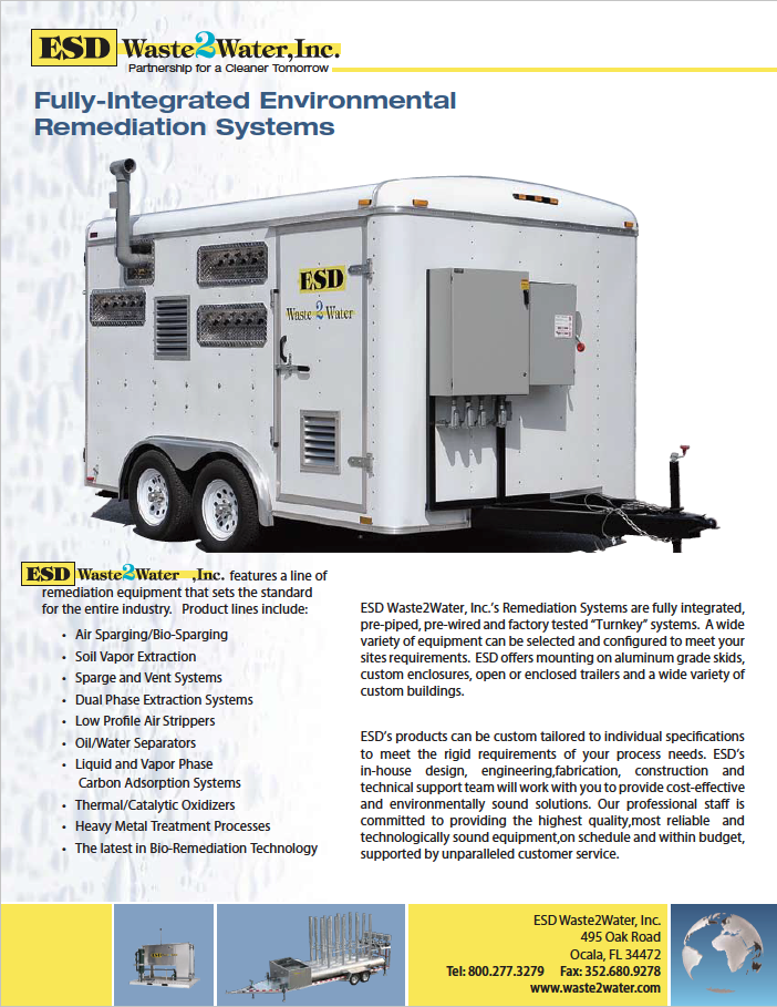 custom environmental remediation systems on trailers