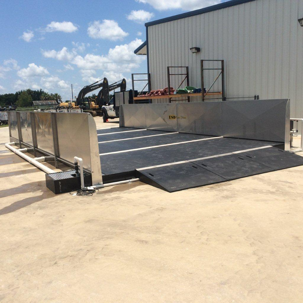 closed loop wash rack system wash stations esd waste2water