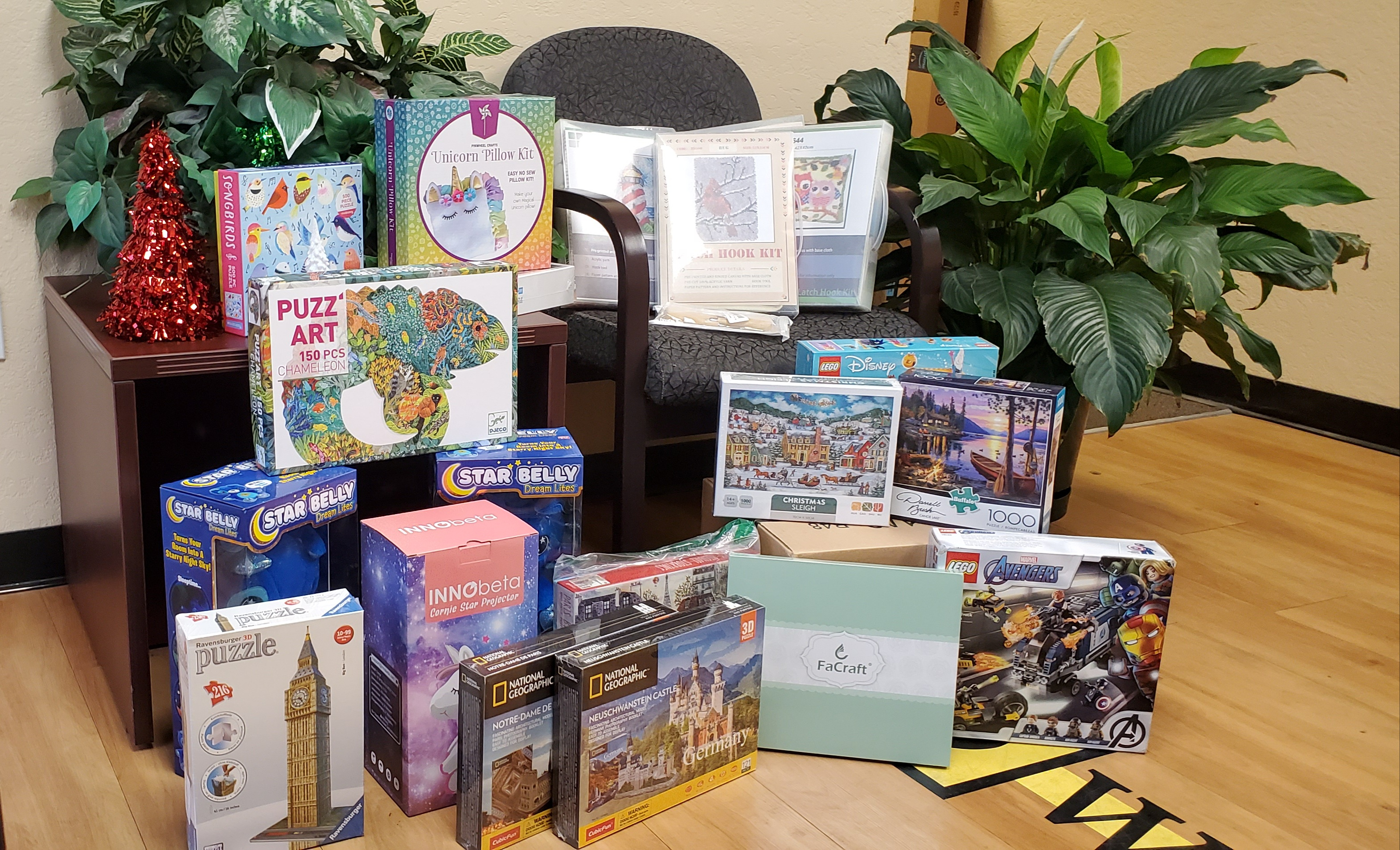 Toys for Tots donations from ESD Waste2Water